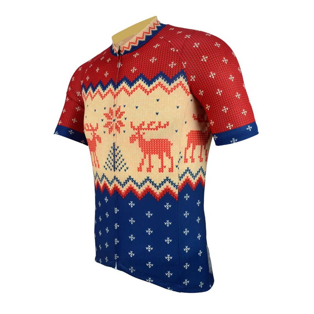 search for clearance new arrive big selection of 2019 Mens Short Sleeve Christmas Jumper Cycling Jersey